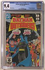 Batman and the Outsiders #1 CGC 9.4 NM WP - 2nd Appearance - DC Comics 1983
