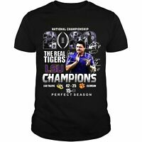 National championship 2020 The Real Tigers LSU Champions Perfect Season Shirt...