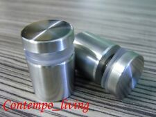 """1"""" Diameter 2-3/4"""" Base Stainless Steel Standoff for Glass Display"""
