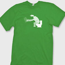 AT AT star wars Funny T-shirt Toilet Downloading Tee Shirt