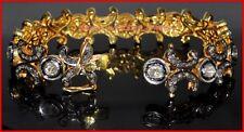 Diamond Silver Pretty Bracelets Jewelry Vintage 5.96Cts Genuine Rose Antique Cut