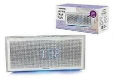 "Lloytron J417 Verve Touch 0.9"" LED Large Blue Display AM FM Radio Alarm Clock"