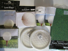 GOLF Fanatic - Birthday Party Supply Pack DELUXE Kit w/ Invites & Loot Bags