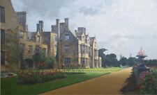 Listed Artist, F. Donald Blake RI, RSMA. Broome Hall, Edwardian Manor- Oil