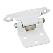 25-Pair- Flush White Self closing Door Hinges- -#P5011-Wh