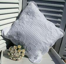 Kissenbezug POLY ROSE Weiß Bestickt 40x40 Landhaus Shabby Vintage Shabby