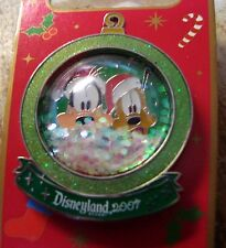 Mickey and Goofy LE 1000 Christmas Snow Globe WDW Pin Mint