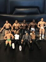 Lot of 9 WWE WWF Wrestling Action Figures by JAKKS Pacific - Classic Superstars