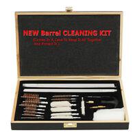 NEW 28pc Universal Gun Cleaning Kit Rifle Shotgun Pistol Brush Mop Rod Set