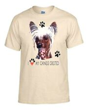 Chinese Crested I Love Adult t-shirt Akc, Pet, Veterinarian, groomer
