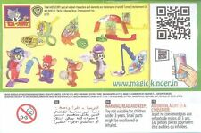 KINDER Surprise TOM & JERRY 1 LIMITED EDITION SERIE COMPLETA DI 8 India RARA 2013