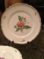 Set of 4 Vintage Plates Castleton China USA for General Thrasher Artist Signed