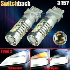 2X High Power Chip 3157 Dual Color Type 2 Switchback LED Turn Signal Light Bulbs