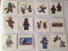 10 X LEGO , NINJAGO  TemporaryTattoo Party Bag filler , UK Seller