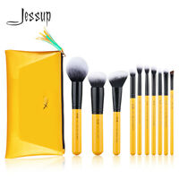 Jessup Makeup Brushes Set 10Pcs Powder Blush Eyeshadow Blending Cosmetic Tool