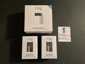 RING Quick Release (2) Battery Packs & Dual Charging Station BUNDLE, Fits Most