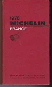 guide MICHELIN rouge FRANCE 1978
