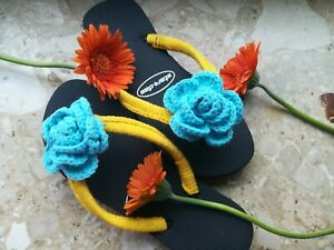 Ladies Flip Flops  for Summer Crochet Sandals & House Shoes