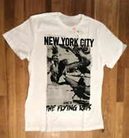 "NWT ECKO Unltd. ""Flying Rats of NYC"" White Graphic T-Shirt, Sz. XL  (S-T-216)"