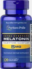 Puritan's Pride Melatonin 5 mg 120 Tablets Improve Sleep Quality Unisex