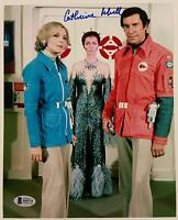 CATHERINE SCHELL Signed 8x10 Photo Space 1999 Maya Actress #1 w/ Beckett BAS COA