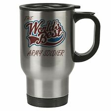 The Worlds Best Army Soldier Thermal Eco Travel Mug - Stainless Steel