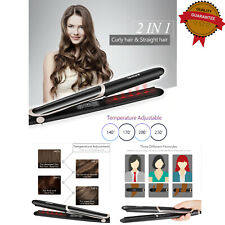Professional 2 In 1 Hair Straightener Curler Infrared Stylish Ceramic Flat Iron