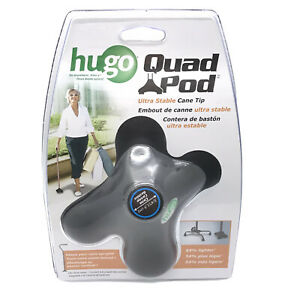 Hugo Quad Pod Ultra Stable Cane Tip 781-030 New & Sealed