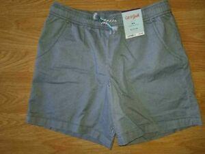 Girls Midi Twill Shorts Grey - Cat & Jack LG (10/12) XL (14/16) #x39