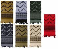 Keffiyeh Crossed Rifles Heavyweight Arab Tactical Desert  Scarf Choose Colors