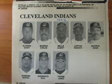Vintage AP Press Wire Photo 1995 Cleveland Indians Lineup in the World Series