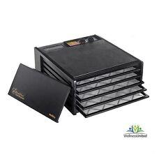 New Excalibur 5 Tray Food Dehydrator 4526T with 26hr timer 2Yr Warranty, Black
