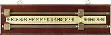 Billiards Score Board Walnut Brown Wall Mount Scorer for Pool FREE Shipping
