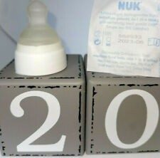 20 Kliniksauger Nuk Größe 1 M mittelfein Trinksauger Milchsauger Baby aus TPE