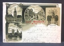 1899 postcard  GRUSS aus MANNHEIM  GERMANY