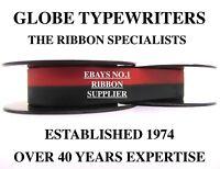 *BLACK/RED* RIBBON FOR REMINGTON VINTAGE TYPEWRITERS *MANUAL REWIND+INSTRUCTIONS