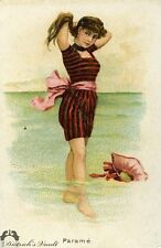 Advertising Tobacco Card Beautiful Bathers Kimball & Co.