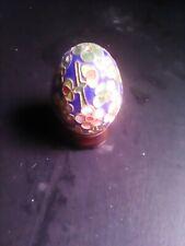 Porcelana.huevo 8 Cm.decorado