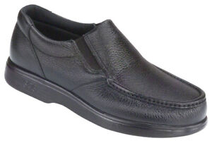 SAS Men's Shoes Side Gore Black Loafer Many Sizes And Widths New In The Box