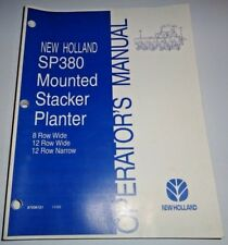 New Holland Sp380 Mounted Stacker Planter Operators Owners Manual Nh 11/03
