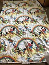 Vintage Pacific Disney MICKEY MOUSE and Friends Twin Flat Sheet & Comforter!!