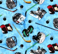 Sports Collection Hockey Elizabeth's Studio 100% cotton fabric by the yard