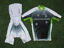 "Authentic Cannondale ""LA BATTAGLIA giusta"" CICLISMO SS Top Jersey & Pantaloncini Set ~ Small"