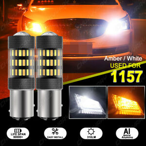 White/Amber Switchback LED Turn Signal Light Bulbs For 1993-2000 GMC Yukon