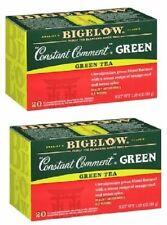 Bigelow Constant Comment Green Tea Bags 2 Box Pack