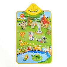 Musical Sound Singing Farm Animal Kid Child Playing Mat Carpet Playmat