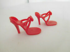 Vintage Vogue Jill Red Plastic High Heel Shoes