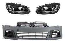 Paraurti anteriore Golf VI 6 2008 > 2013 R20 look con fari 3D LED DRL