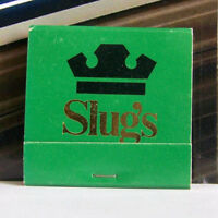 Rare Vintage Matchbook L1 Charlotte North Carolina Slugs Ribs Restaurant Myrtle