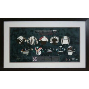 PENRITH PANTHERS SIGNED FRAMED 'PRIDE OF THE PANTHERS' LIMITED EDITION PRINT